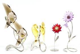 Swarovski Crystal Sculptures Four