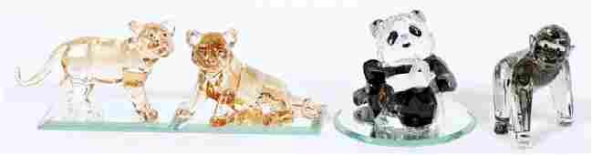 SWAROVSKI CRYSTAL ANIMAL FIGURINES FOUR