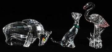 SWAROVSKI CRYSTAL ANIMAL FIGURINES THREE