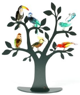 Swarovski Crystal Tropical Birds And Paradise Tree