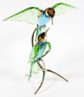 Swarovski Crystal Weaver-bird Sculpture