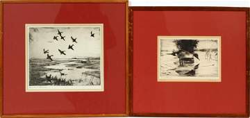 FRANK WESTON BENSON DUCK ETCHINGS