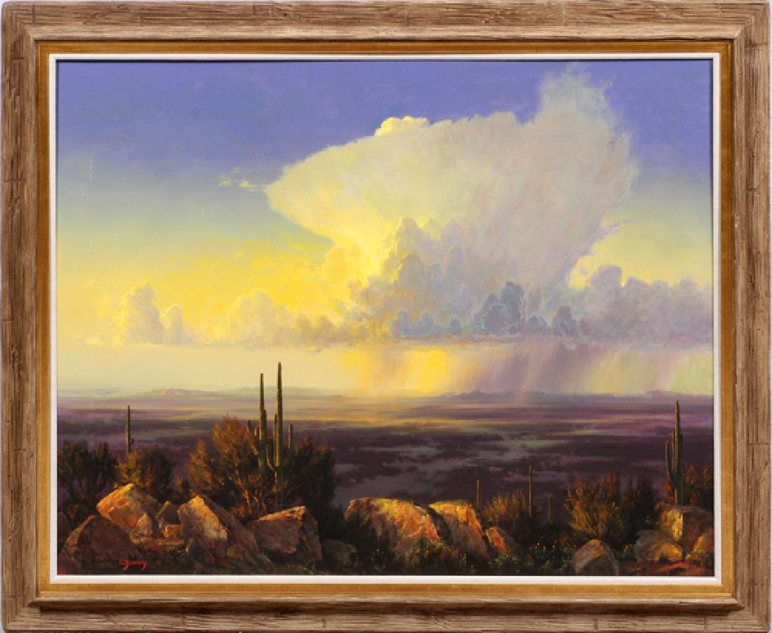 WILLIAM S. JENNINGS OIL ON CANVAS 1990