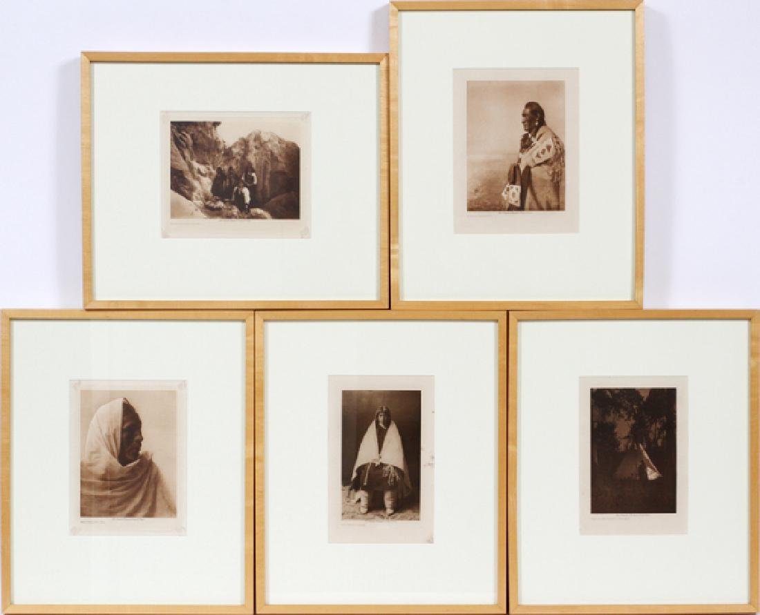 PHOTOGRAVURES GROUP OF FIVE FROM EDWARD S.CURTIS