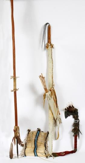 NATIVE AMERICAN ARTIFACTS 5 PIECES