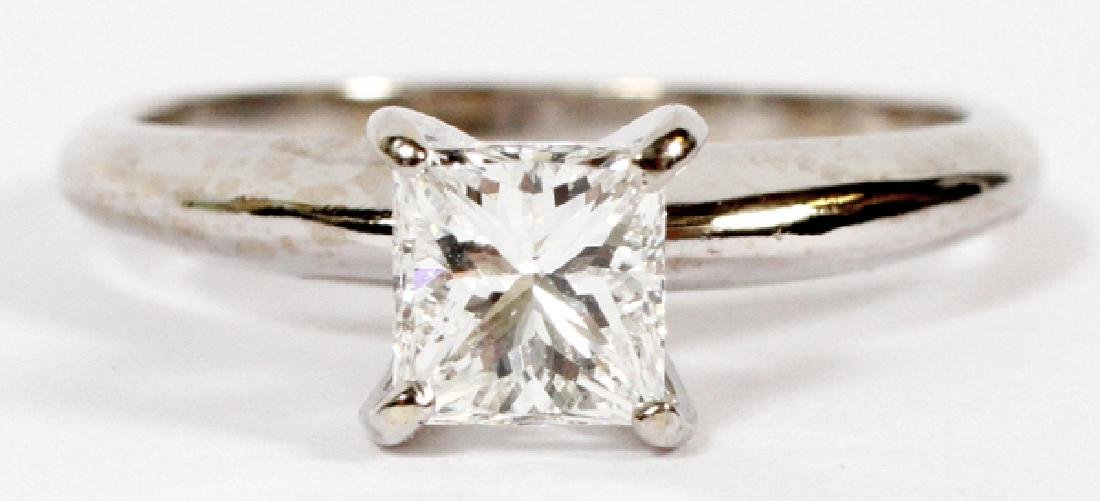 PRINCESS CUT DIAMOND SOLITARY RING SIZE 4.75