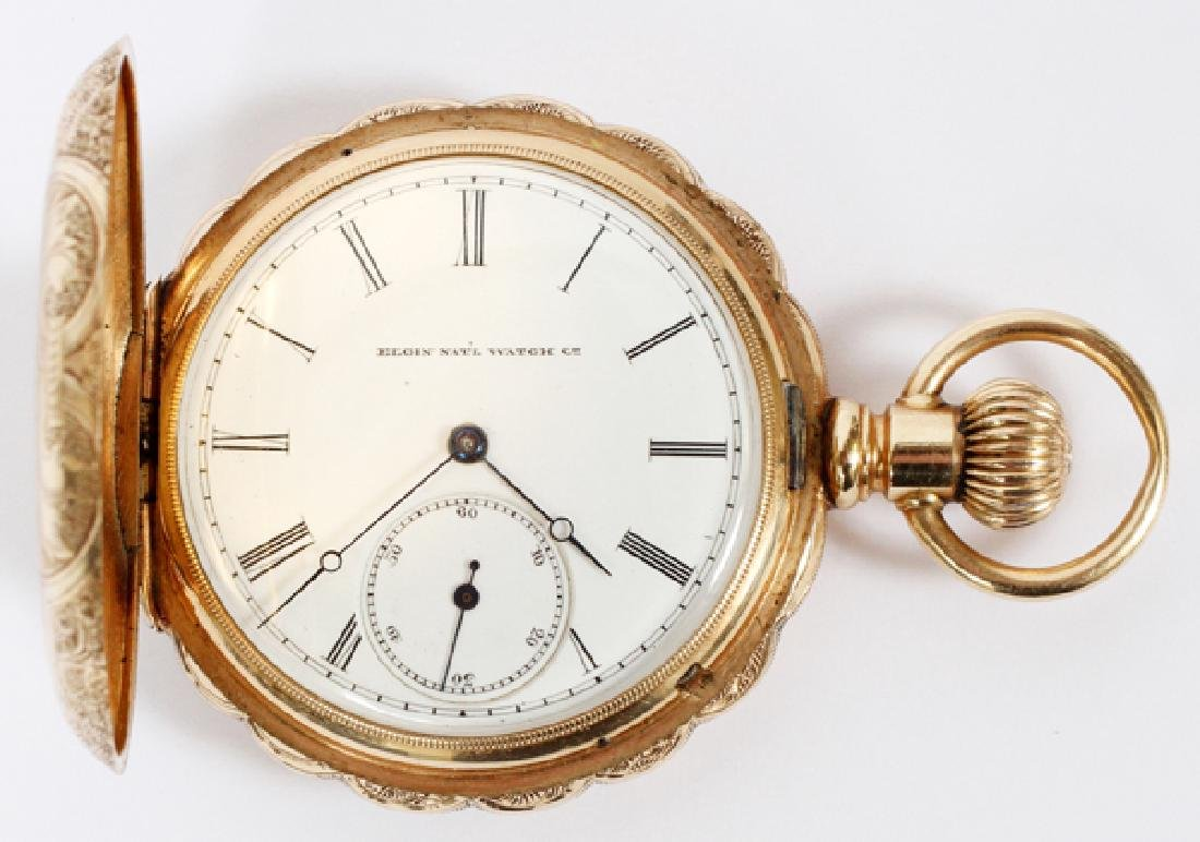ELGIN 14KT YELLOW GOLD POCKET WATCH #1399461