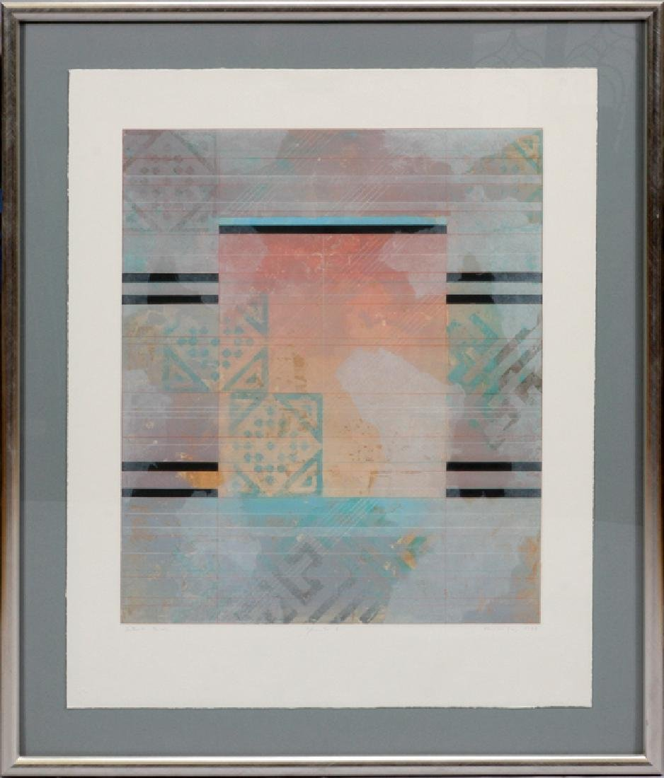 KELLY COLOR ABSTRACT LITHOGRAPH 1988