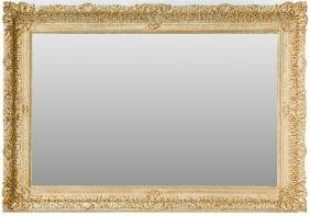 GILT WOOD AND BEVEL GLASS MIRROR LATE 20TH C