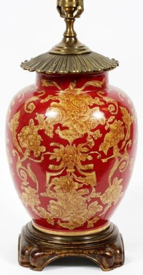 WILDWOOD CHINOISERIE STYLE PAINTED TABLE LAMP