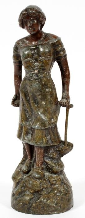 FRENCH SPELTER FIGURAL SCULPTURE