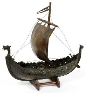 BRONZE VIKING SHIP