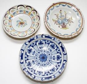 EUROPEAN POTTERY CHARGERS 3 PIECES