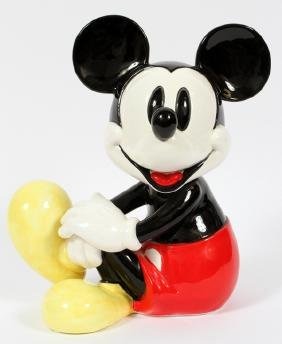 WALT DISNEY SCHMID MUSICAL PORCELAIN MICKEY MOUSE