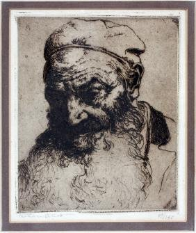 HERMANN STRUCK ETCHING LATE 19TH/EARLY 20TH C.