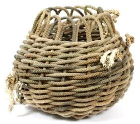 LAURIE GORHAM HAMMILL WOVEN ROPE BASKET