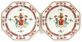 CHINESE EXPORT PORCELAIN ARMORIAL CHARGERS