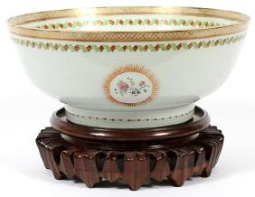 CHINESE EXPORT PORCELAIN PUNCH BOWL C. 1800