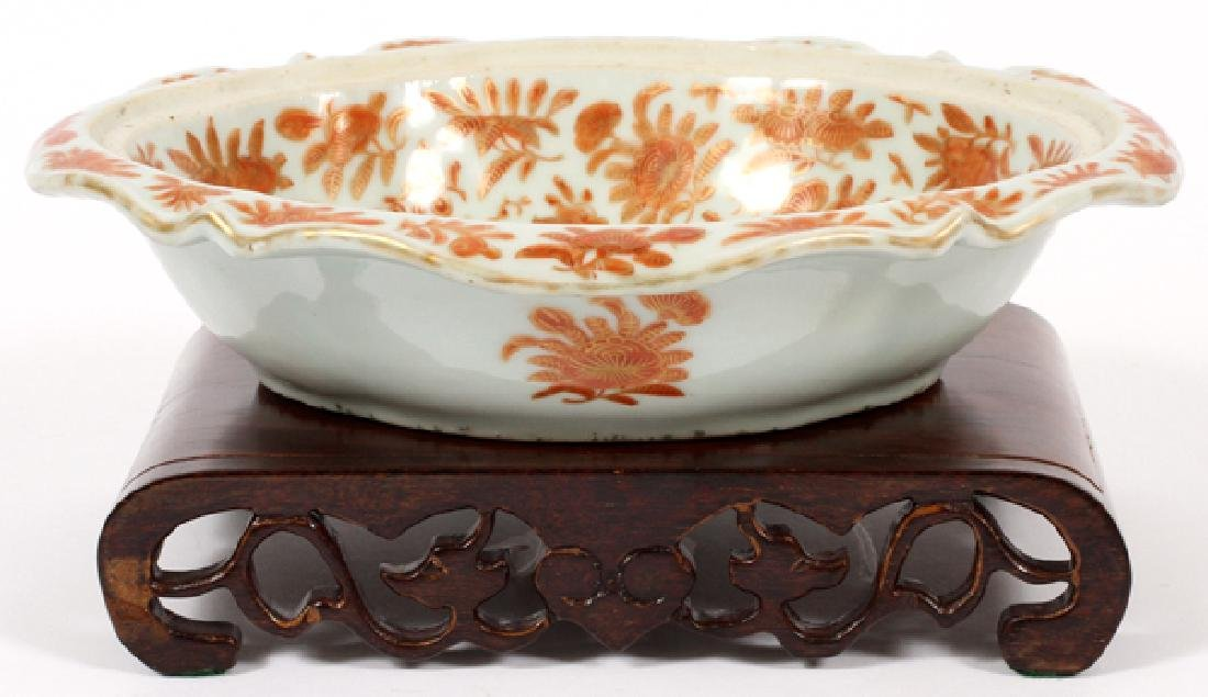 CHINESE 'SACRED BIRD & BUTTERFLY' PORCELAIN DISH