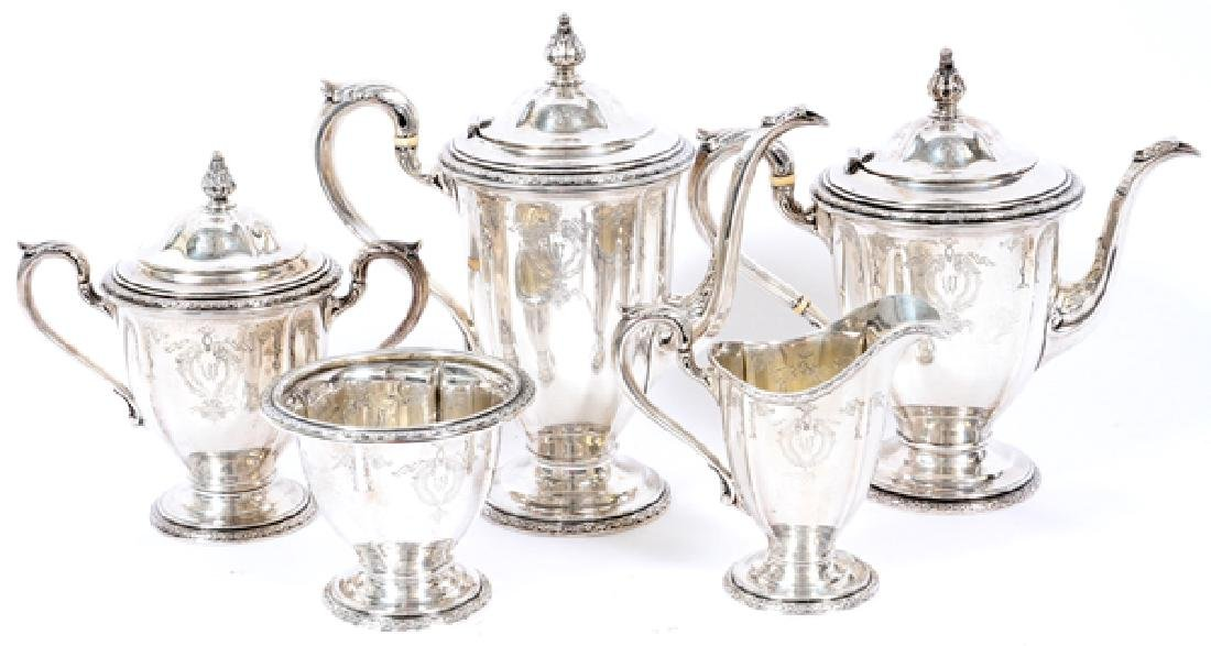 DOMINICK & HAFF STERLING TEA AND COFFEE SERVICE