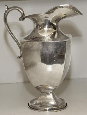 JOSE MARMOLEJOS MEXICAN STERLING WATER PITCHER