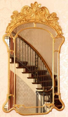 FRENCH STYLE GILT GESSO MIRROR