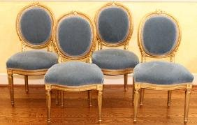 FRENCH LOUIS XVI BALLROOM STYLE SIDE CHAIRS