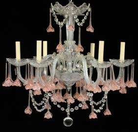 CRYSTAL SIX LIGHT CHANDELIER