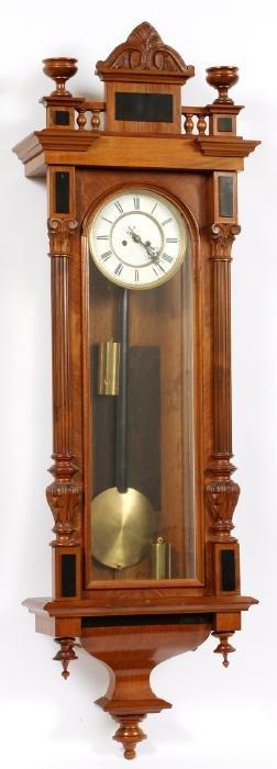 TWO WEIGHT VIENNA REGULATOR WALL CLOCK