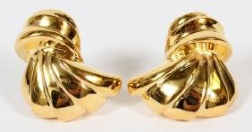 14KT YELLOW GOLD TASSEL FORM EARRINGS PAIR