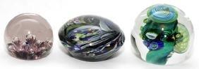 STUDIO ART GLASS PAPERWEIGHTS THREE