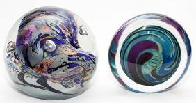 ART GLASS PAPERWEIGHTS TWO