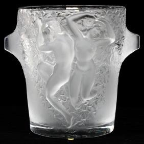 LALIQUE 'GANYMEDE' FROSTED GLASS CHAMPAGNE COOLER