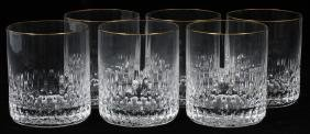 ST. LOUIS 'APOLLO GOLD' CRYSTAL GLASSES SIX
