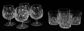 WATERFORD 'LISMORE' CRYSTAL SNIFTERS AND TUMBLERS