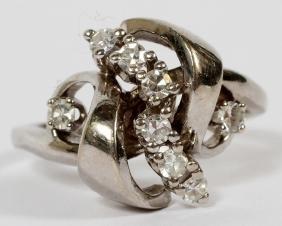 BIRKS 14KT WHITE GOLD & DIAMOND RING