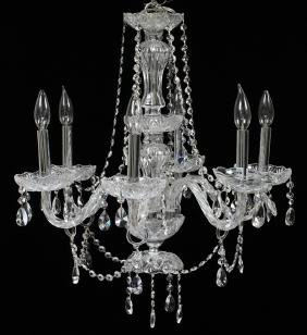 SIX-LIGHT CRYSTAL CHANDELIER