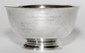 ROGER BROS. STERLING TROPHY BOWL