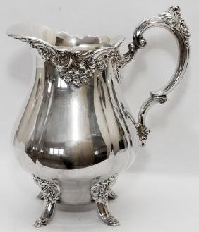 WALLACE BAROQUE SILVER PLATE WATER PITCHER