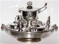 SILVER PLATE LAZY SUSAN