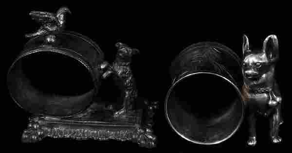 VICTORIAN FIGURAL NAPKIN RINGS CIRCA 1860 TWO