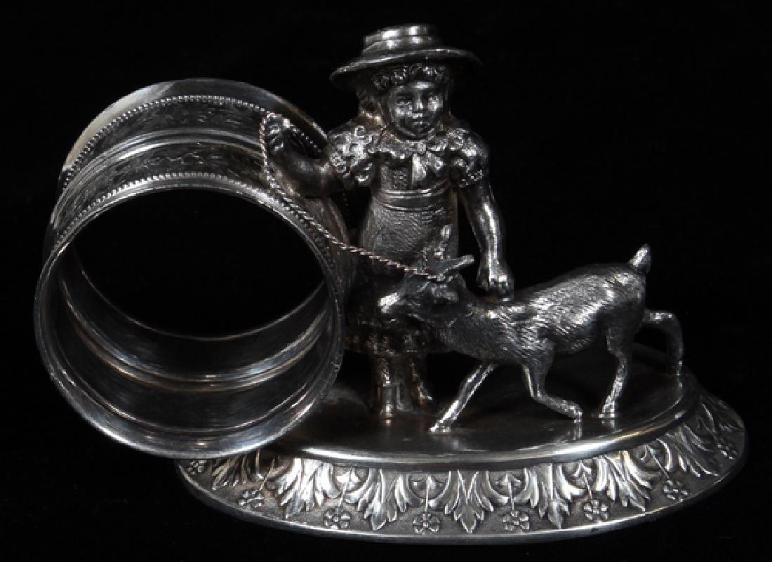 VICTORIAN SILVER PLATE NAPKIN RING CIRCA 1870