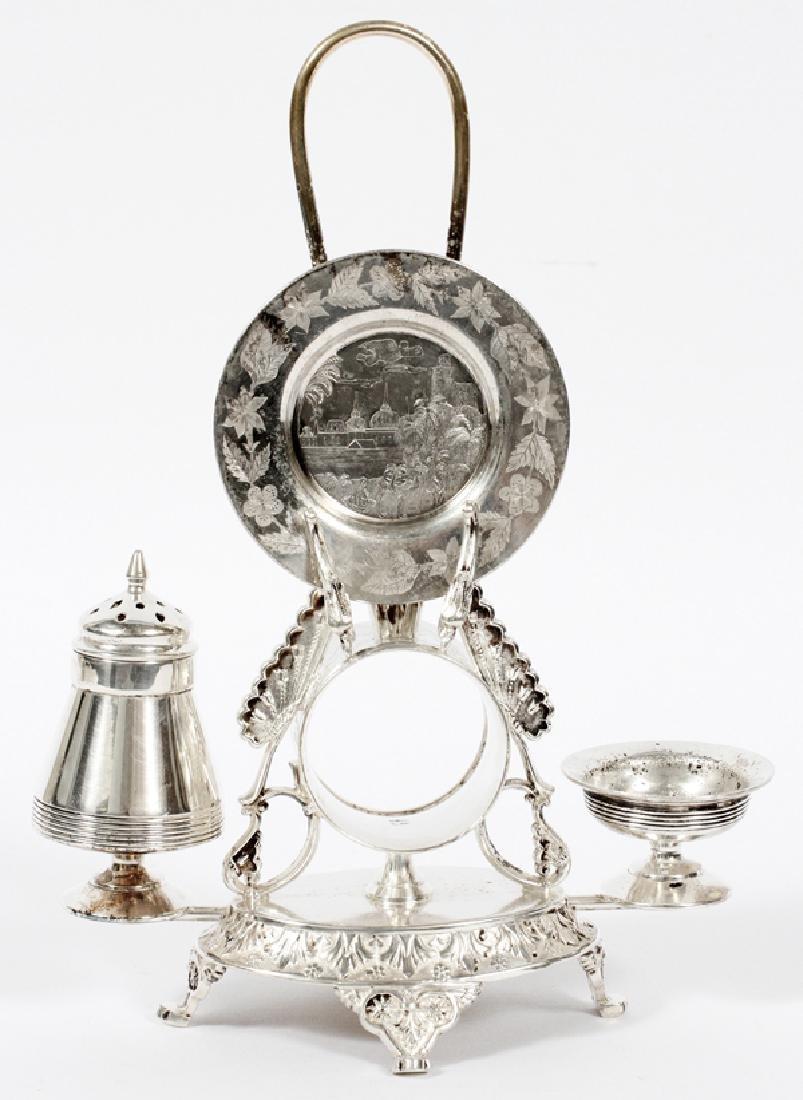 VICTORIAN SILVER PLATE COMBINATION NAPKIN RING SET