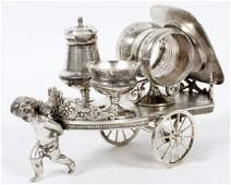 VICTORIAN SILVER PLATE CONDIMENT TROLLEY