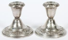 GORHAM STERLING CANDLESTICKS PAIR #1129