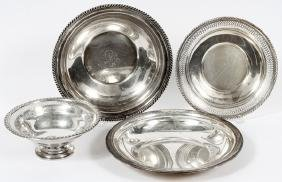 AMERICAN STERLING SERVING PIECES FOUR