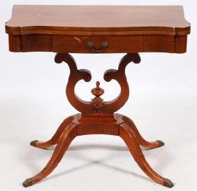 MERSMAN DUNCAN PHYFE MAHOGANY GAMES TABLE
