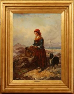 GEORGE HARVEY OIL ON CANVAS C.1880S