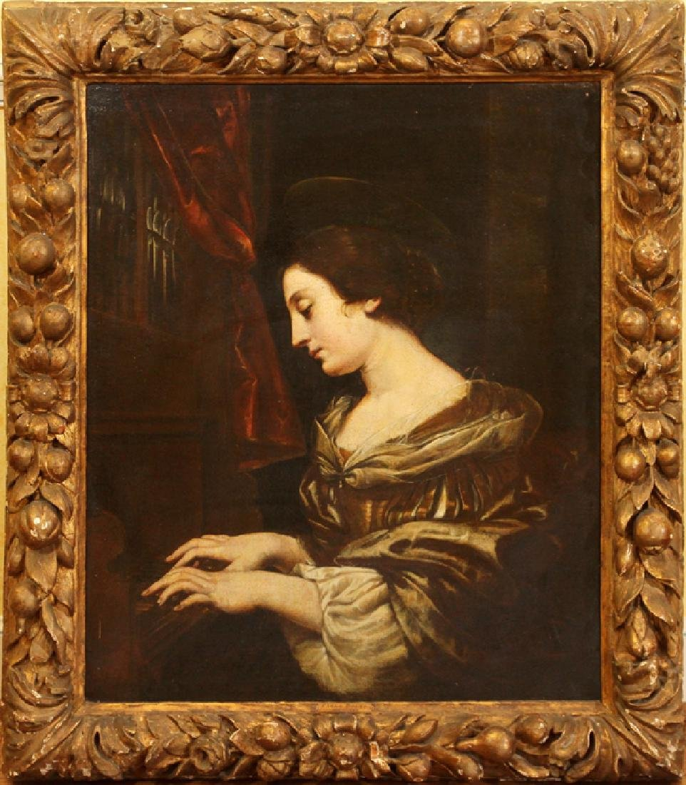 ATTRIBUTED TO CARLO DOLCI OIL ON CANVAS