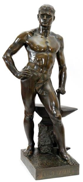 PIERRE GRANET BRONZE FIGURE